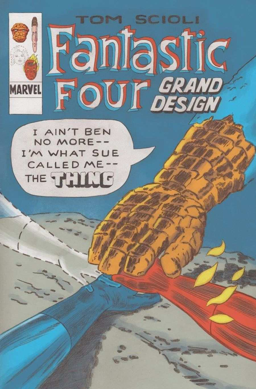 Fantastic Four: Grand Design #1, copertina di Tom Scioli