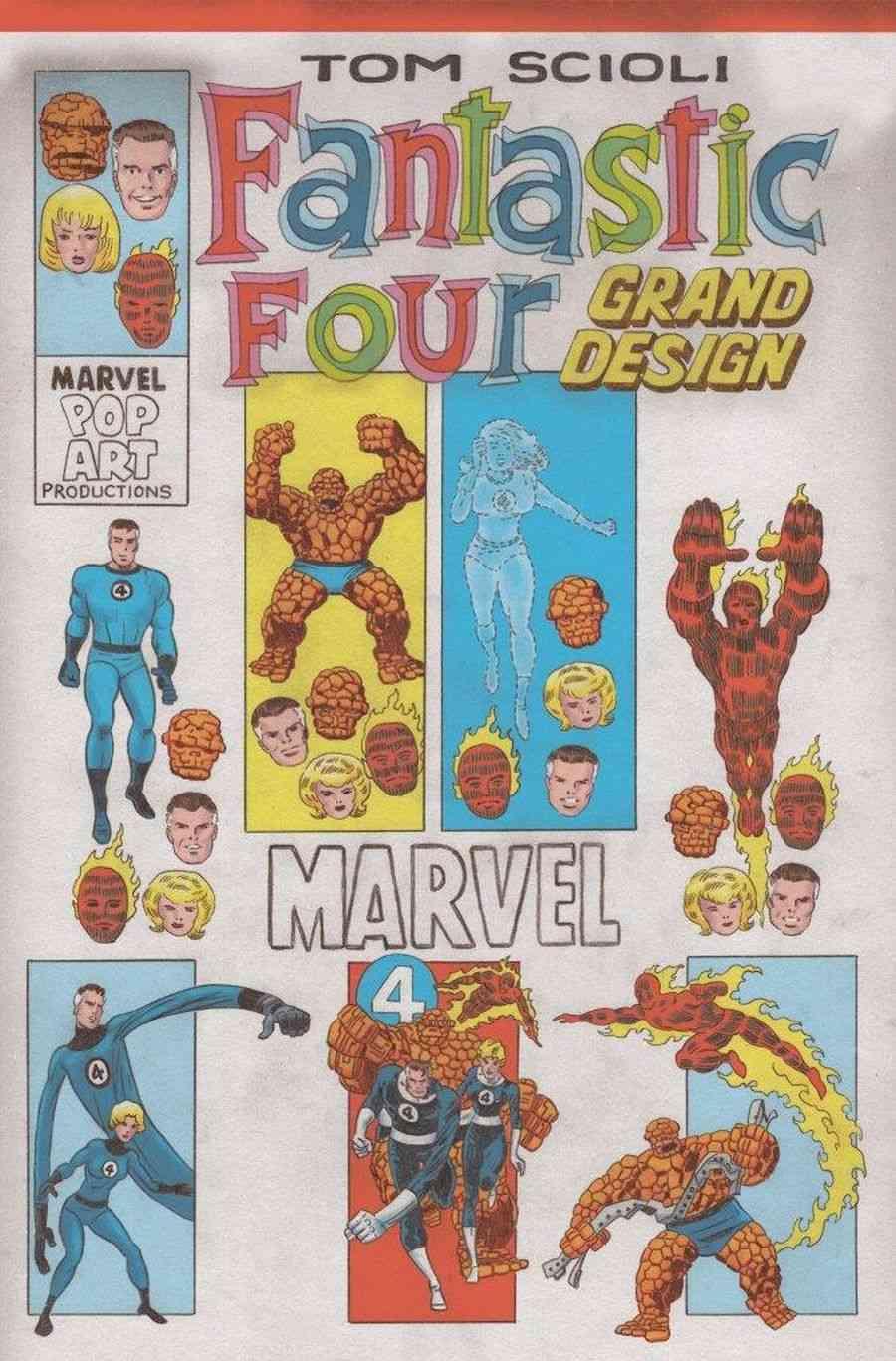 Fantastic Four: Grand Design #1, variant cover di Tom Scioli