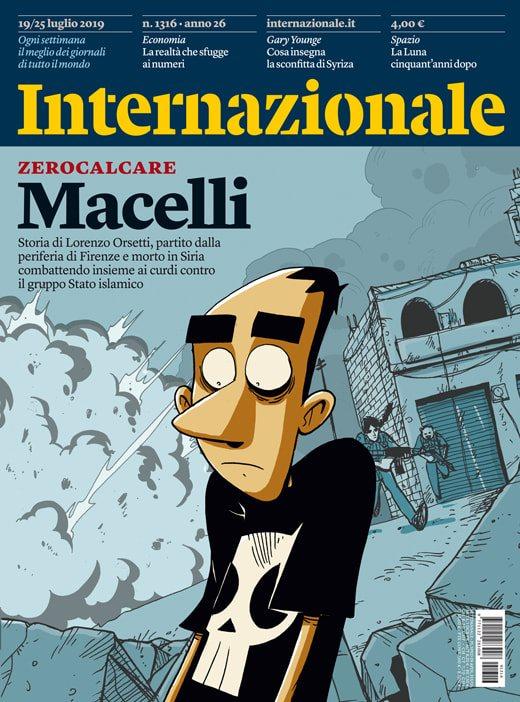 Internazionale 1316, copertina di Zerocalcare
