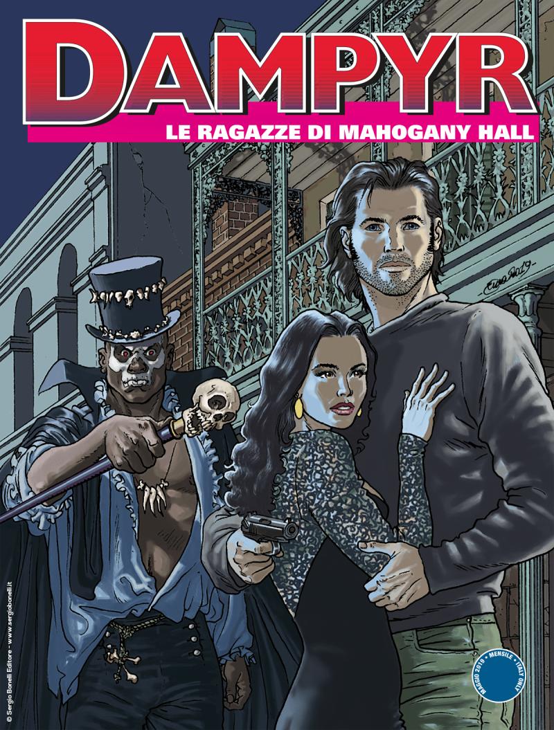 Dampyr 230: Le ragazze di Mahogany Hall, copertina di Enea Riboldi