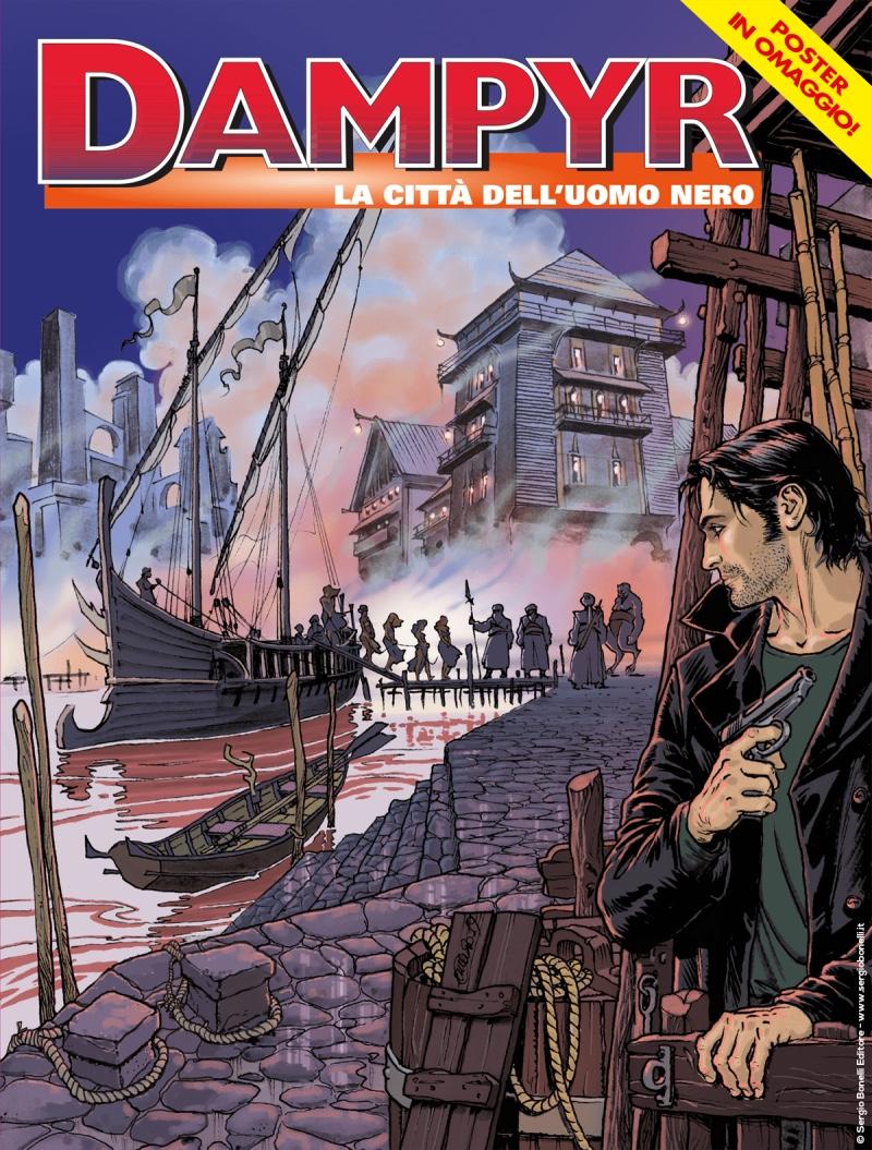 Dampyr 231: La città dell'Uomo Nero, copertina di Enea Riboldi