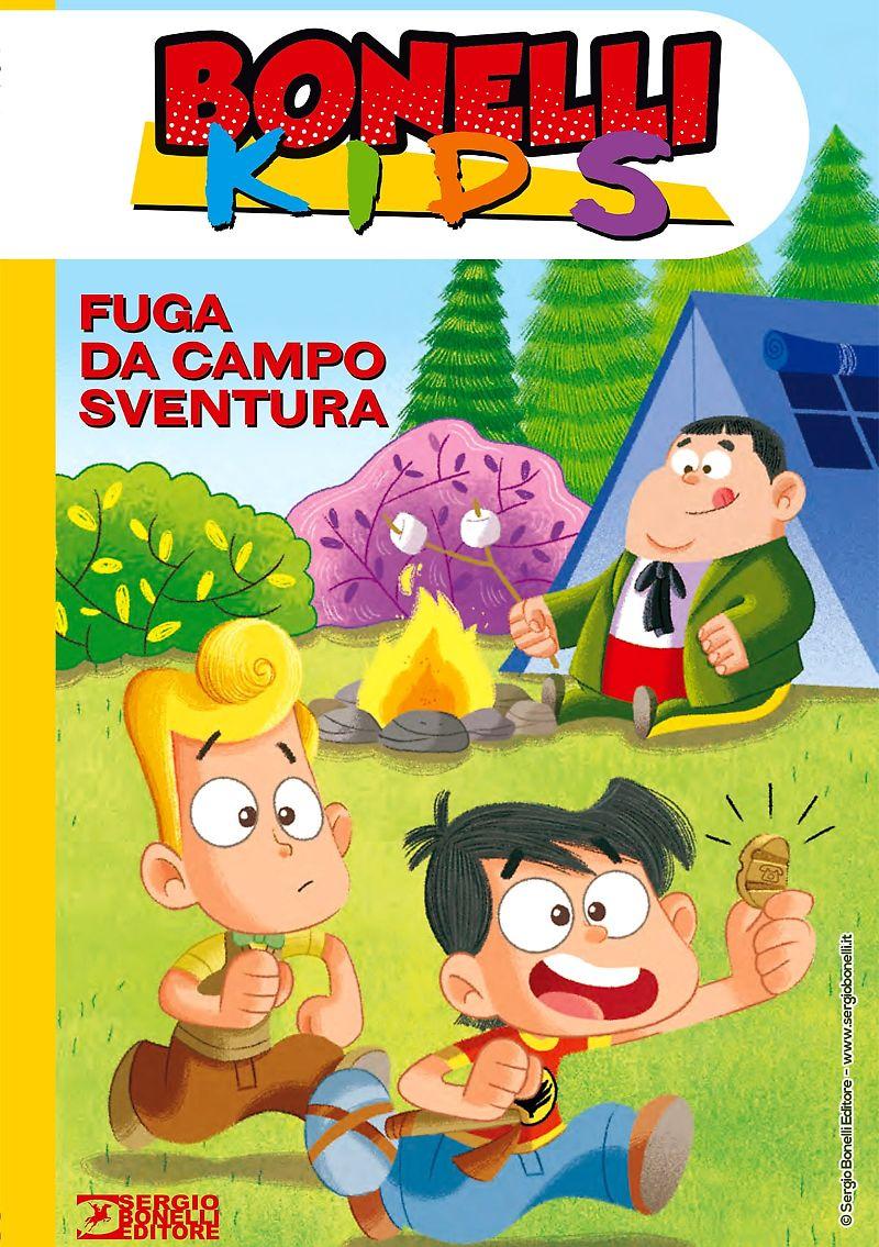 Bonelli Kids: Fuga da Campo Sventura, copertina di Luca Bertelè