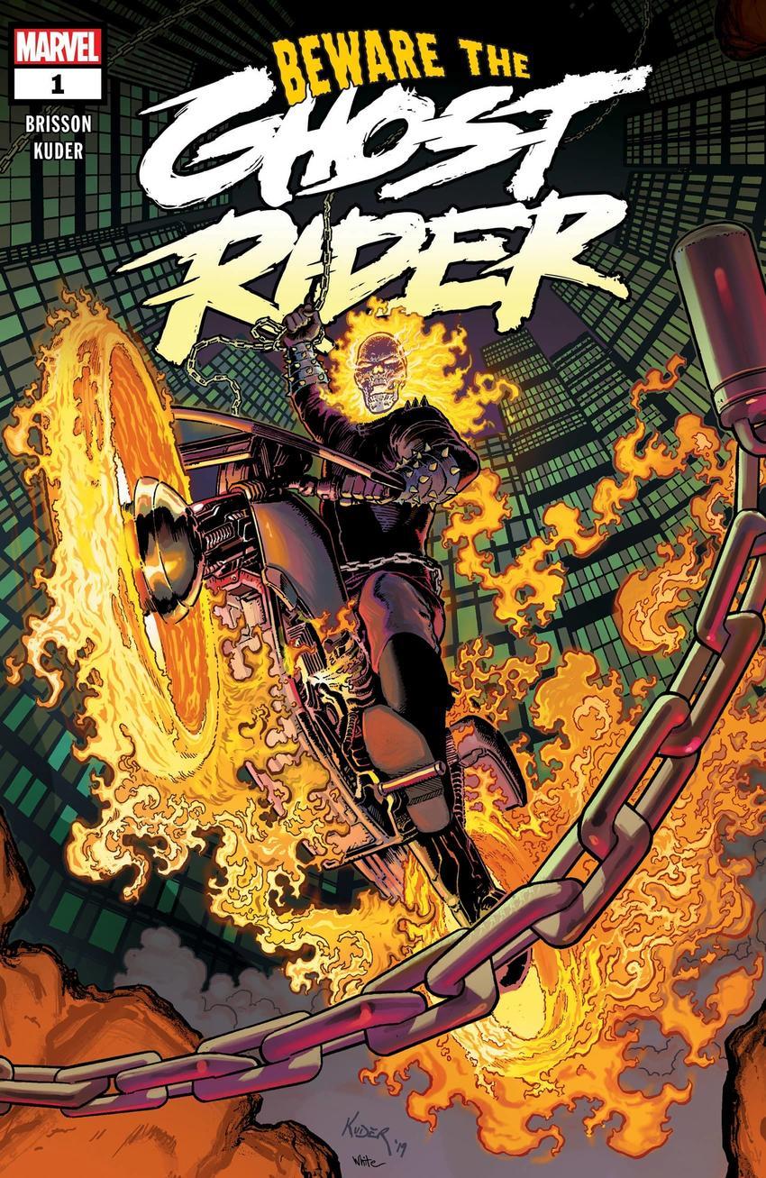 Ghost Rider #1, copertina di Aaron Kuder