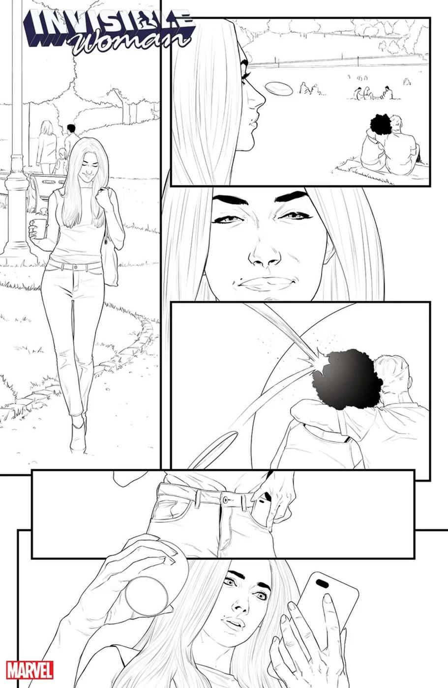 Invisible Woman #1, anteprima 01 (chine)