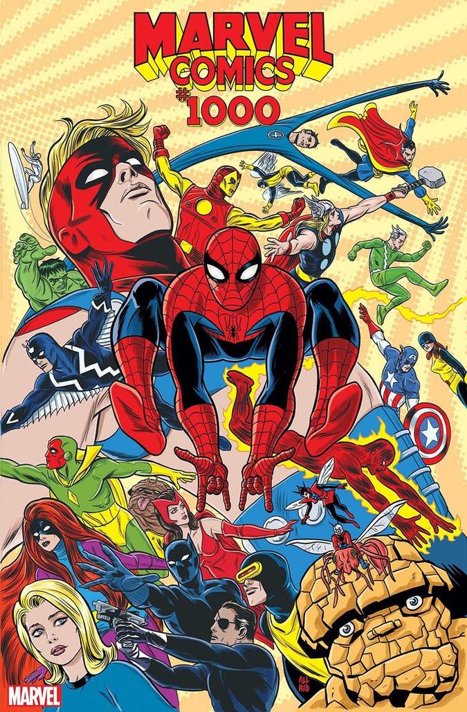 Marvel Comics #1000, variant cover di Mike Allred