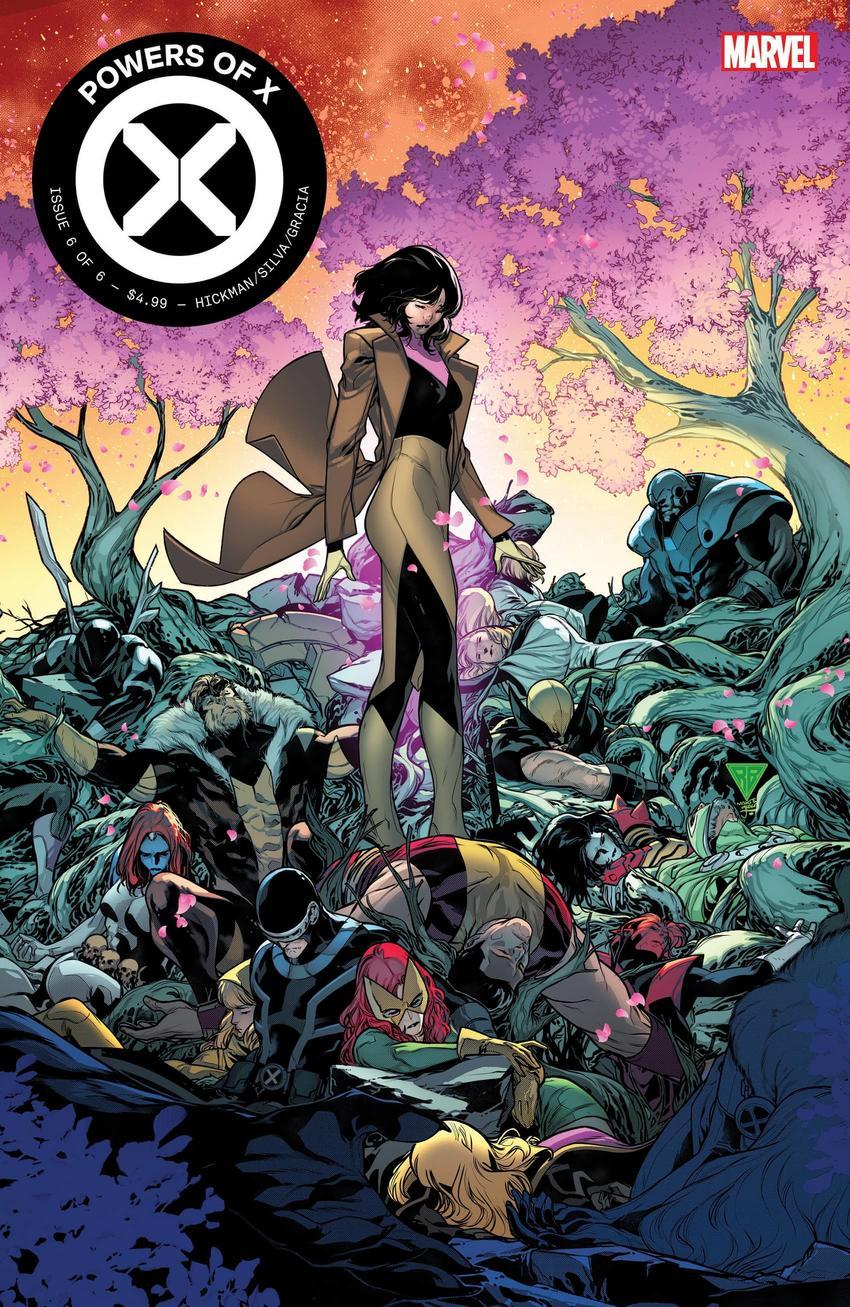Powers of X #6, copertina di R.B. Silva