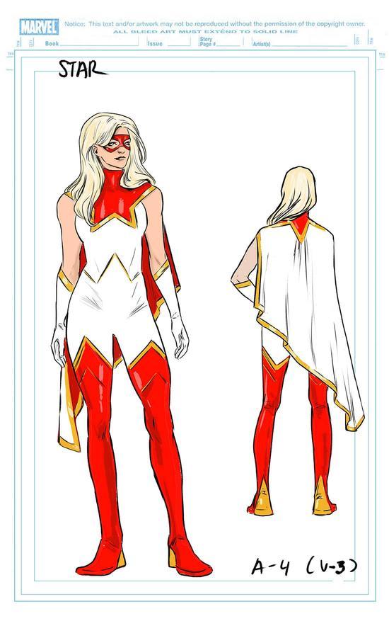 Star, character design di Carmen Carnero