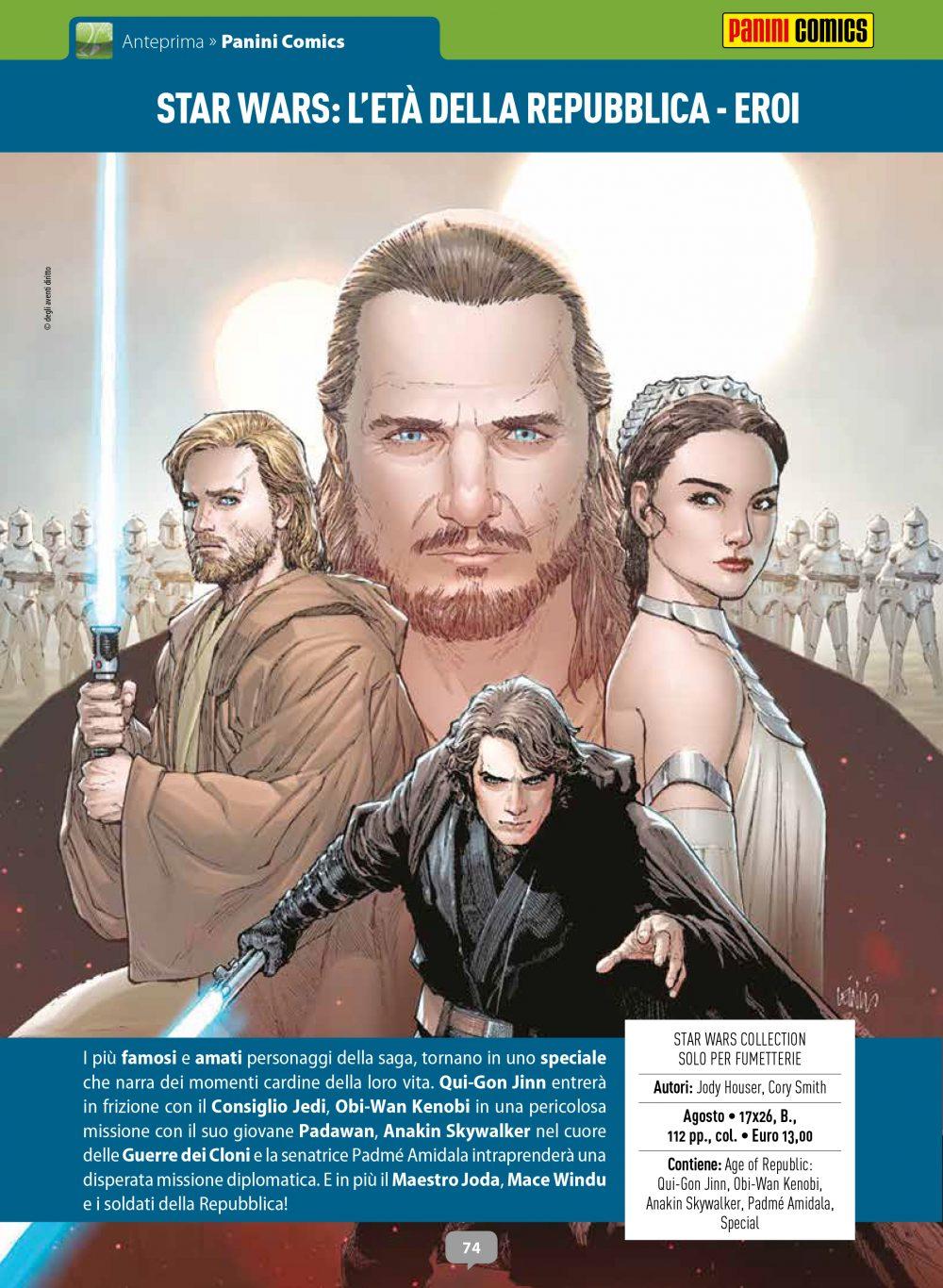 Star Wars - L'Età della Repubblica: Eroi, su Anteprima