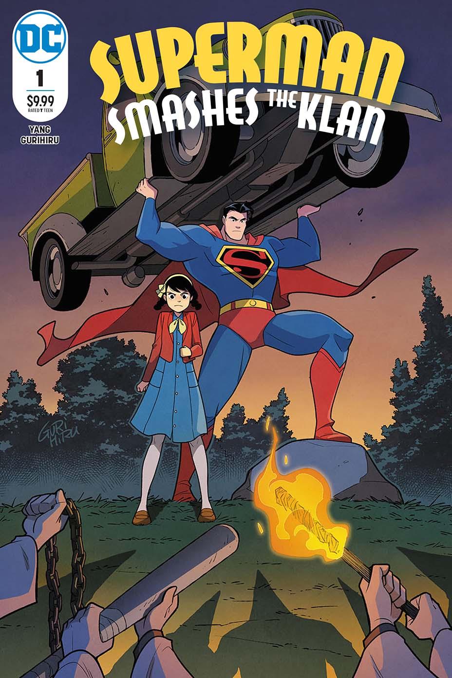 Superman smashes the Klan #1, copertina di Gurihiru