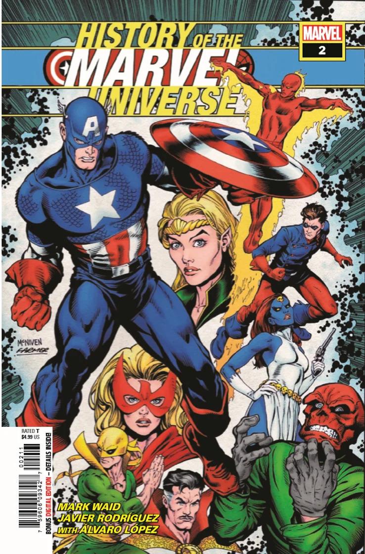 History of the Marvel Universe #2, copertina di Steve McNiven