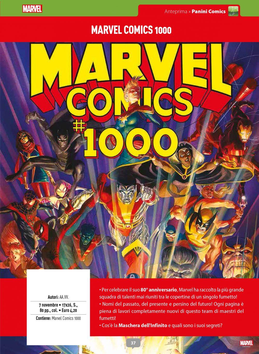 Marvel Comics 1000 su Anteprima