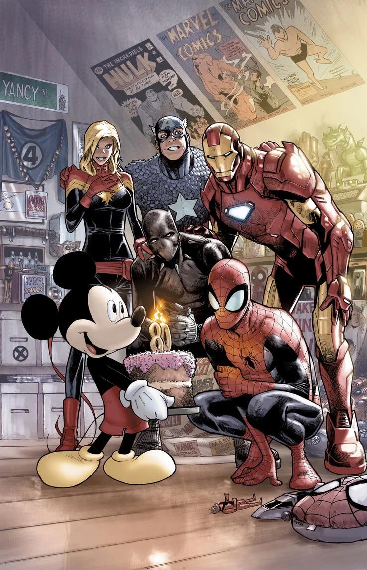 Marvel Comics #1000, variant cover di Humberto Ramos
