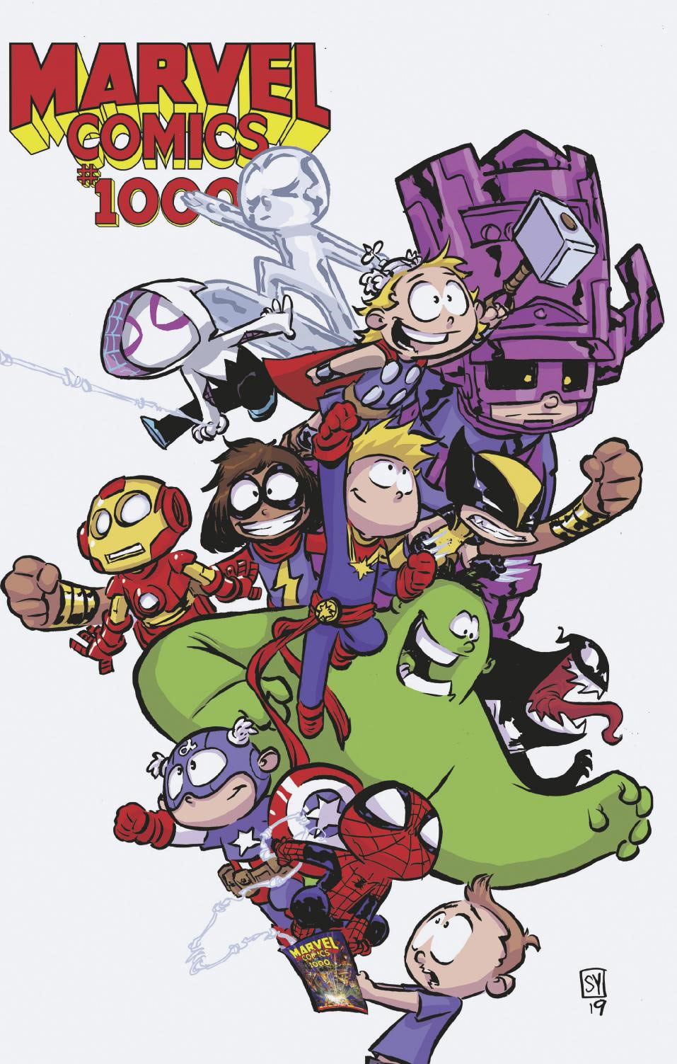 Marvel Comics #1000, variant cover di Skottie Young