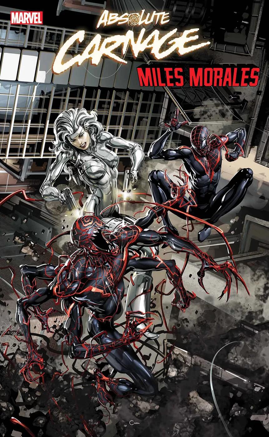 Absolute Carnage: Miles Morales #2, copertina di Clayton Crain