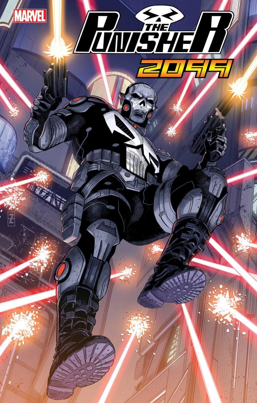 Punisher 2099 #1, copertina di Patch Zircher