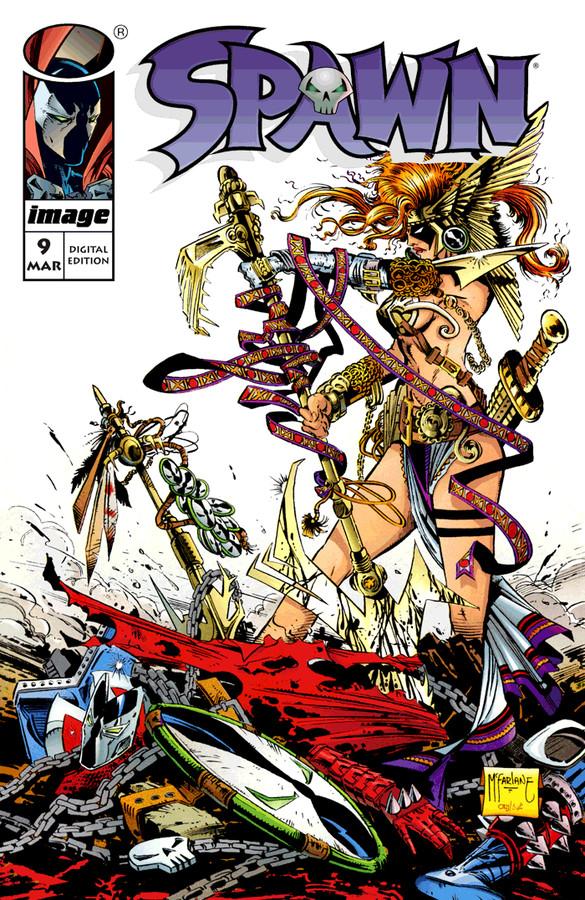 Spawn #9, copertina di Todd McFarlane