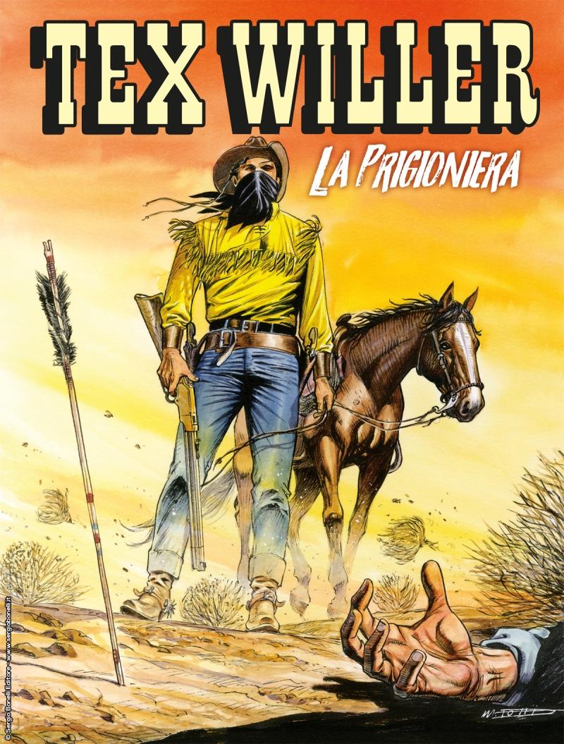 Tex Willer 8: La prigioniera, copertina di Maurizio Dotti
