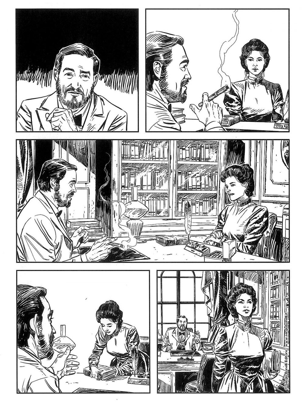Tex Willer 10: Pinkerton Lady, anteprima 01