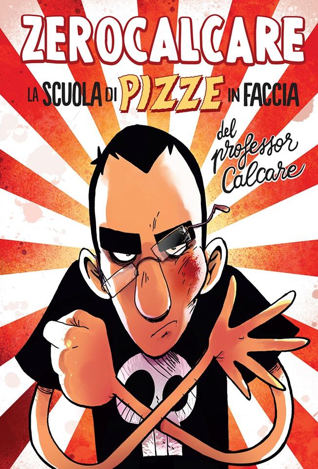La scuola di pizze in faccia del professor Calcare, copertina di Zerocalcare (censurata)
