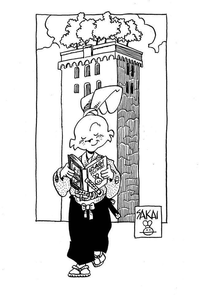 Usagi Yojimbo a Lucca, illustrazione di Stan Sakai