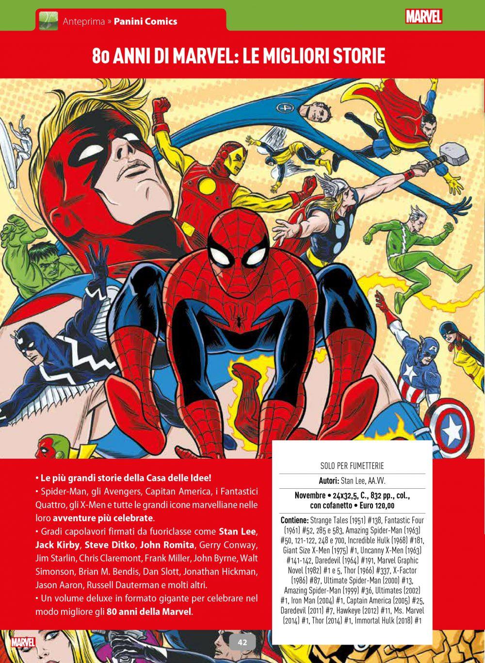80 anni di Marvel: le migliori storie su Anteprima