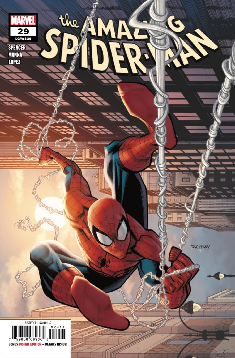 Amazing Spider-Man #29, copertina di Ryan Ottley
