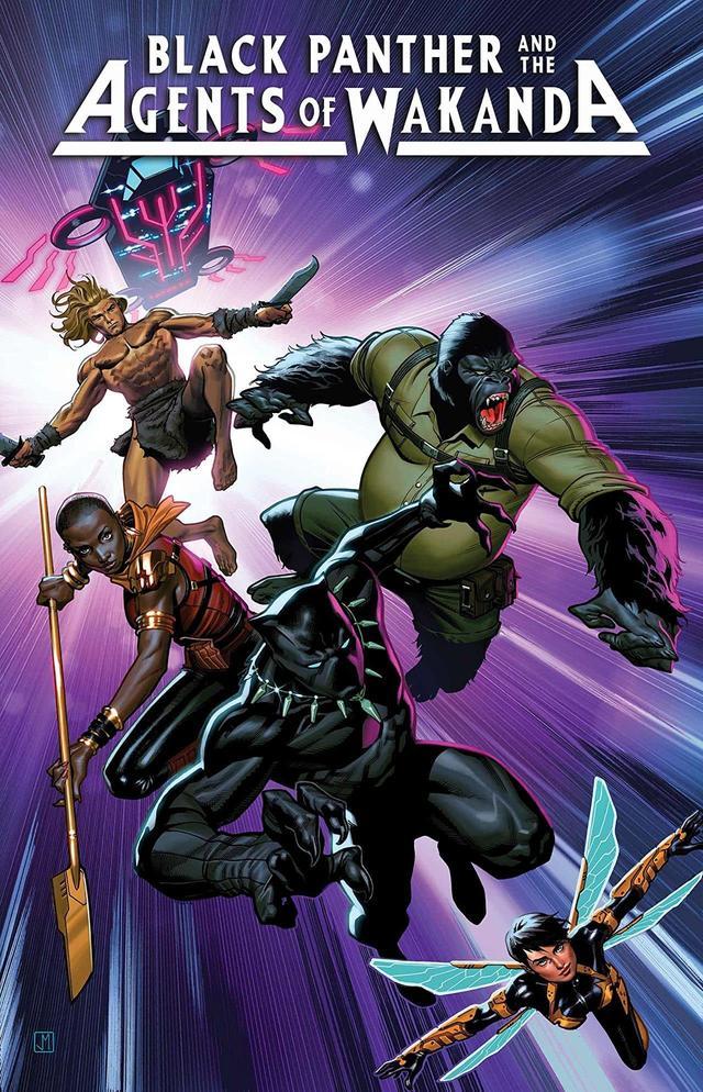 Black Panther and the Agents of Wakanda #1, copertina di Lan Medina