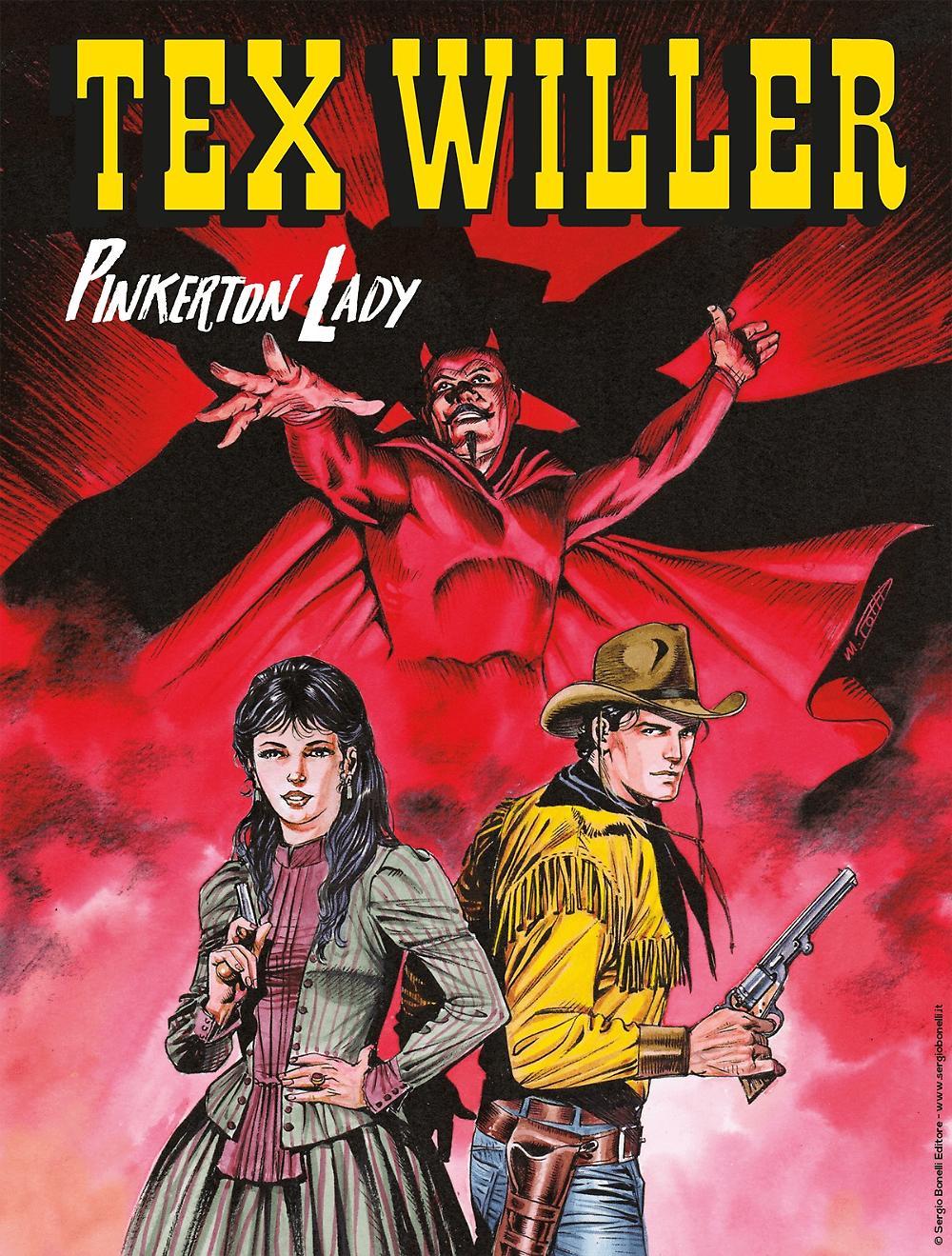 Tex Willer 10: Pinkerton Lady, copertina di Roberto De Angelis