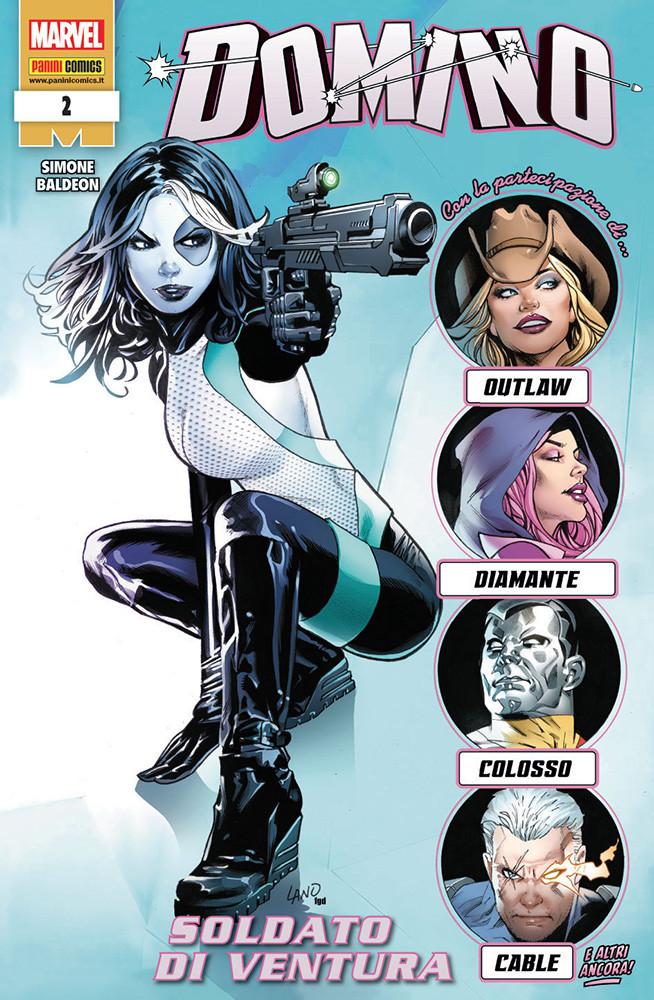Domino 2: Soldato di ventura, copertina di Greg Land