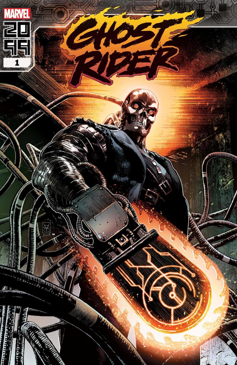 Ghost Rider 2099 #1, copertina di Valerio Giangiordano