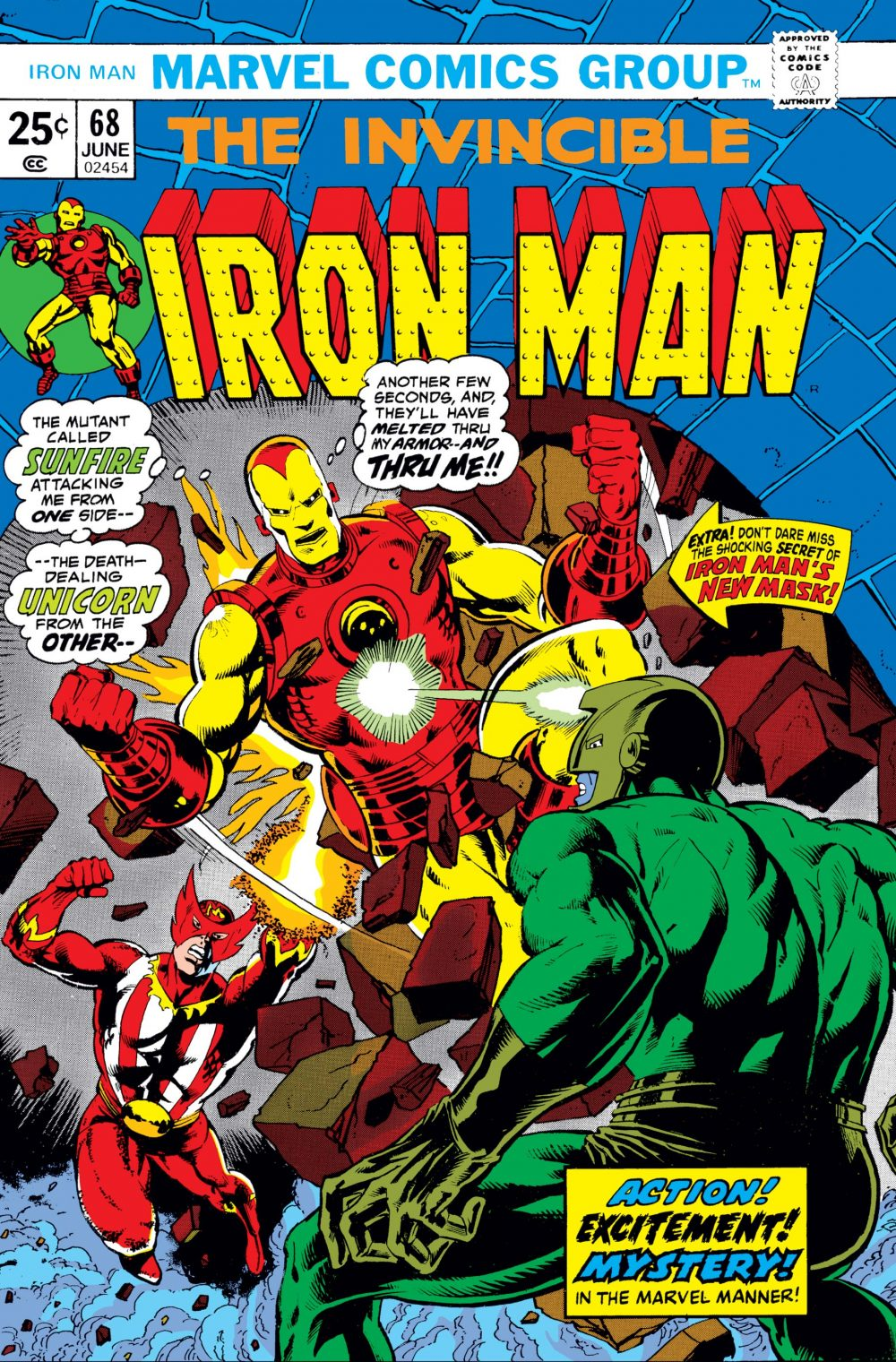 Iron Man #68, copertina di Jim Starlin