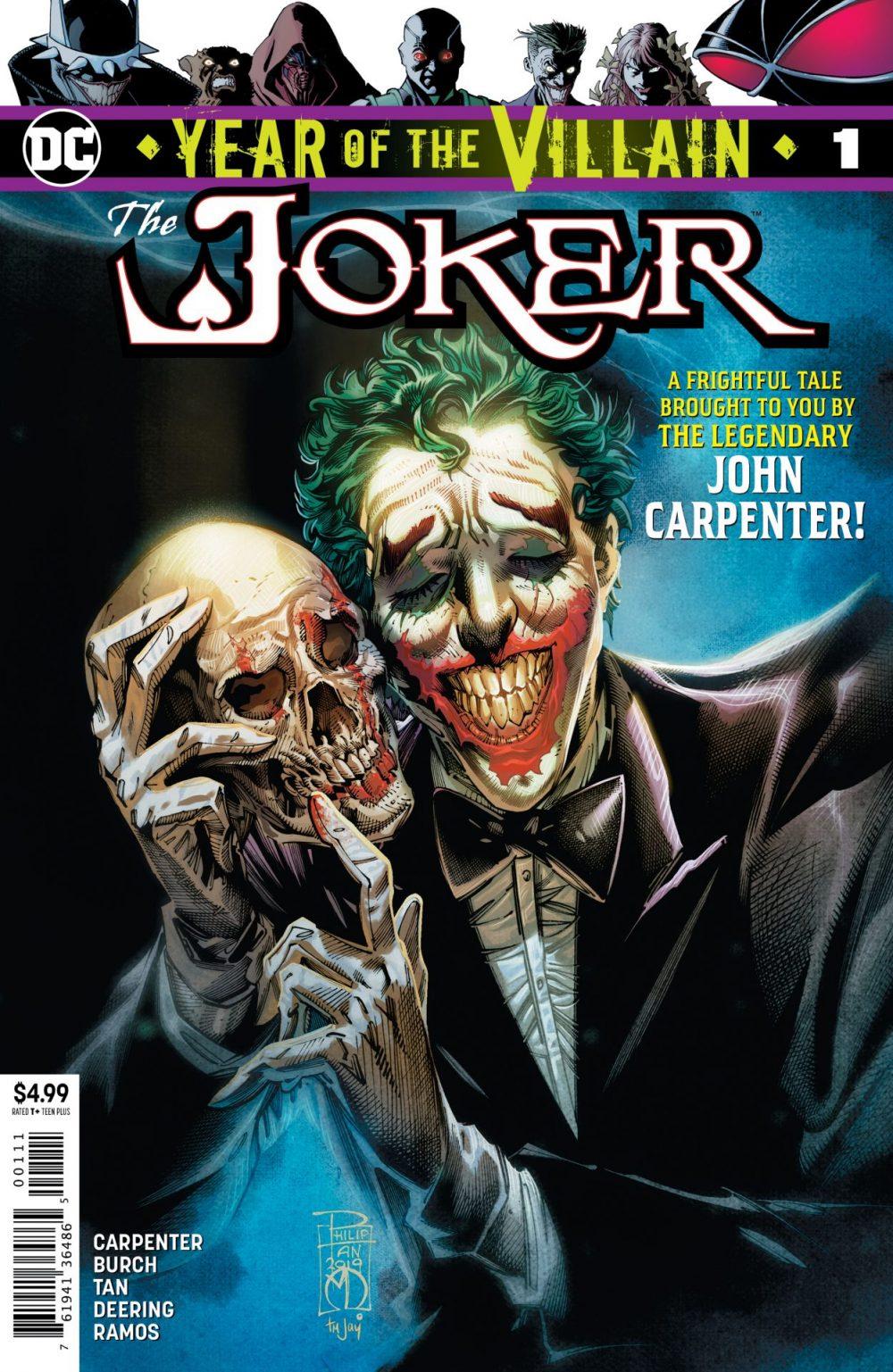 Joker: Year of the Villain, copertina di Philip Tan