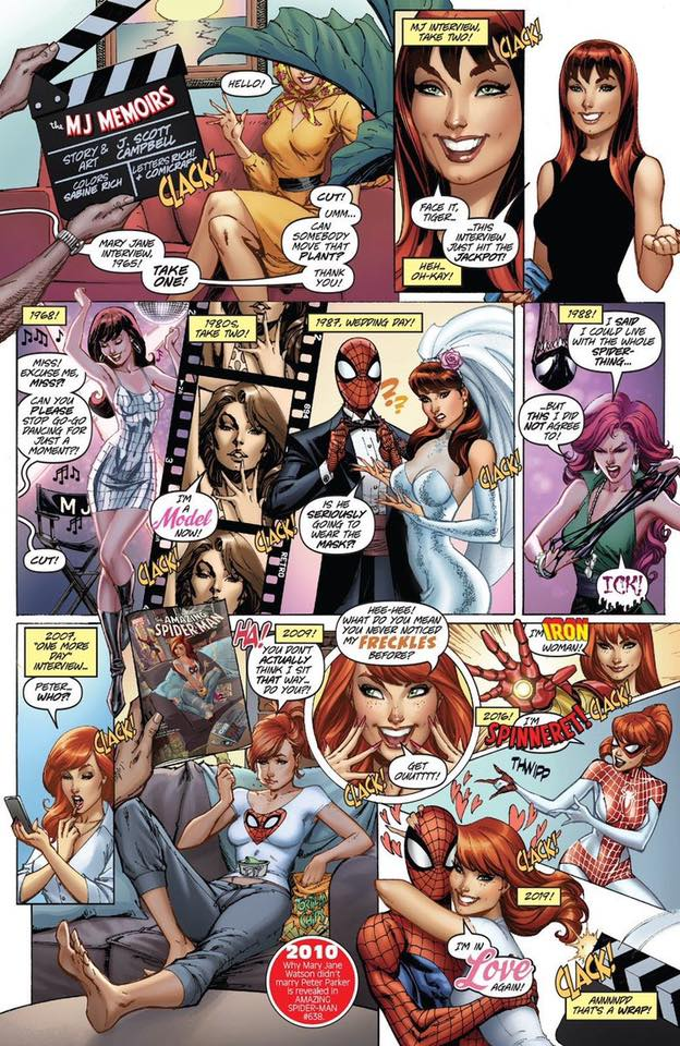 Marvel Comics #1000: MJ Memoirs, di J. Scott Campbell
