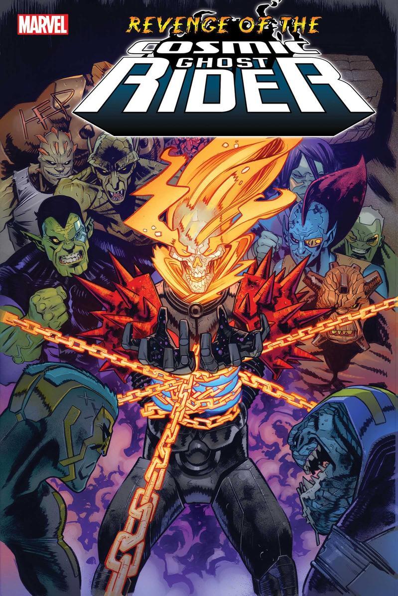 Revenge of the Cosmic Rider #1, copertina di Scott Hepburn