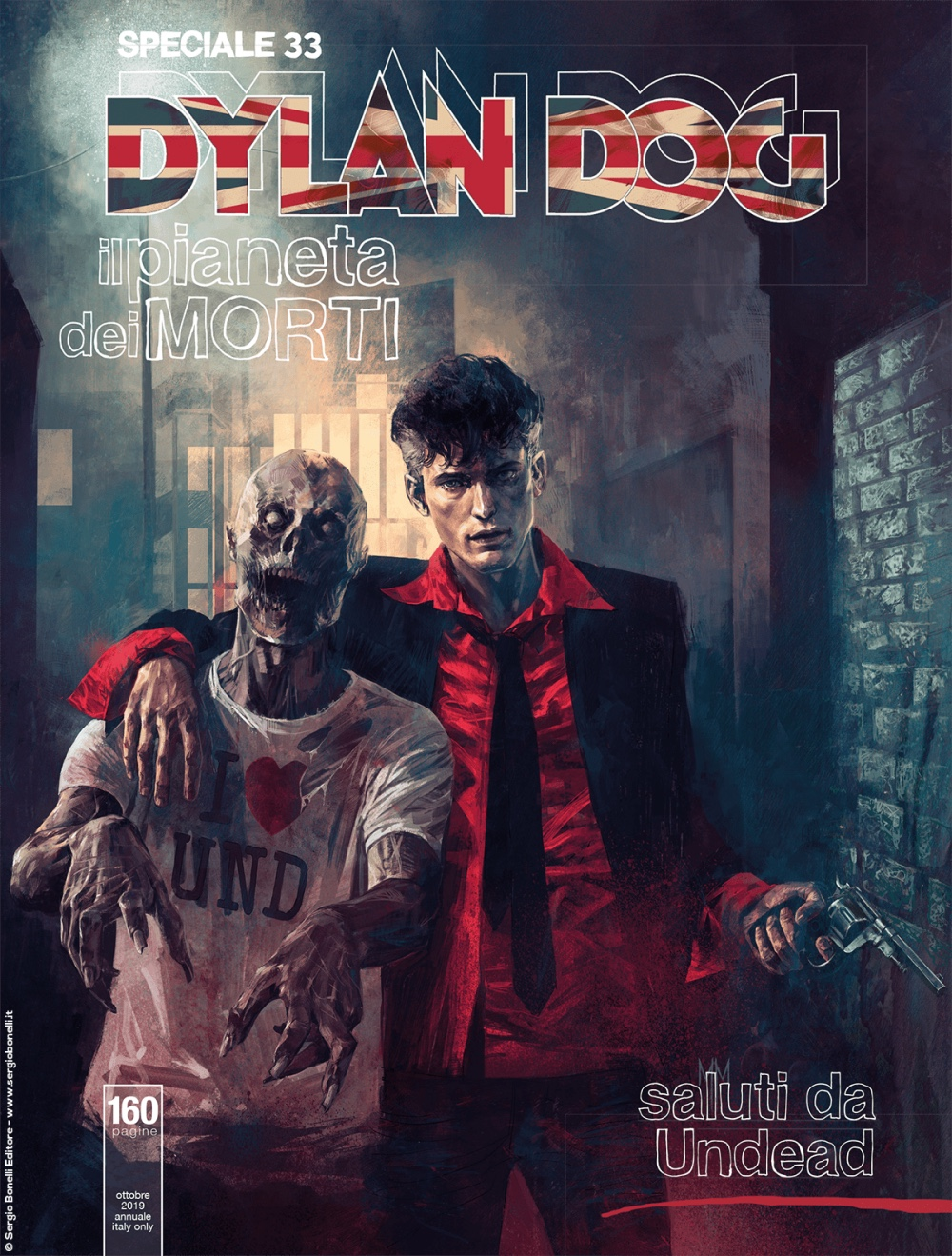 Speciale Dylan Dog 33: Saluti da Undead, copertina di Marco Mastrazzo