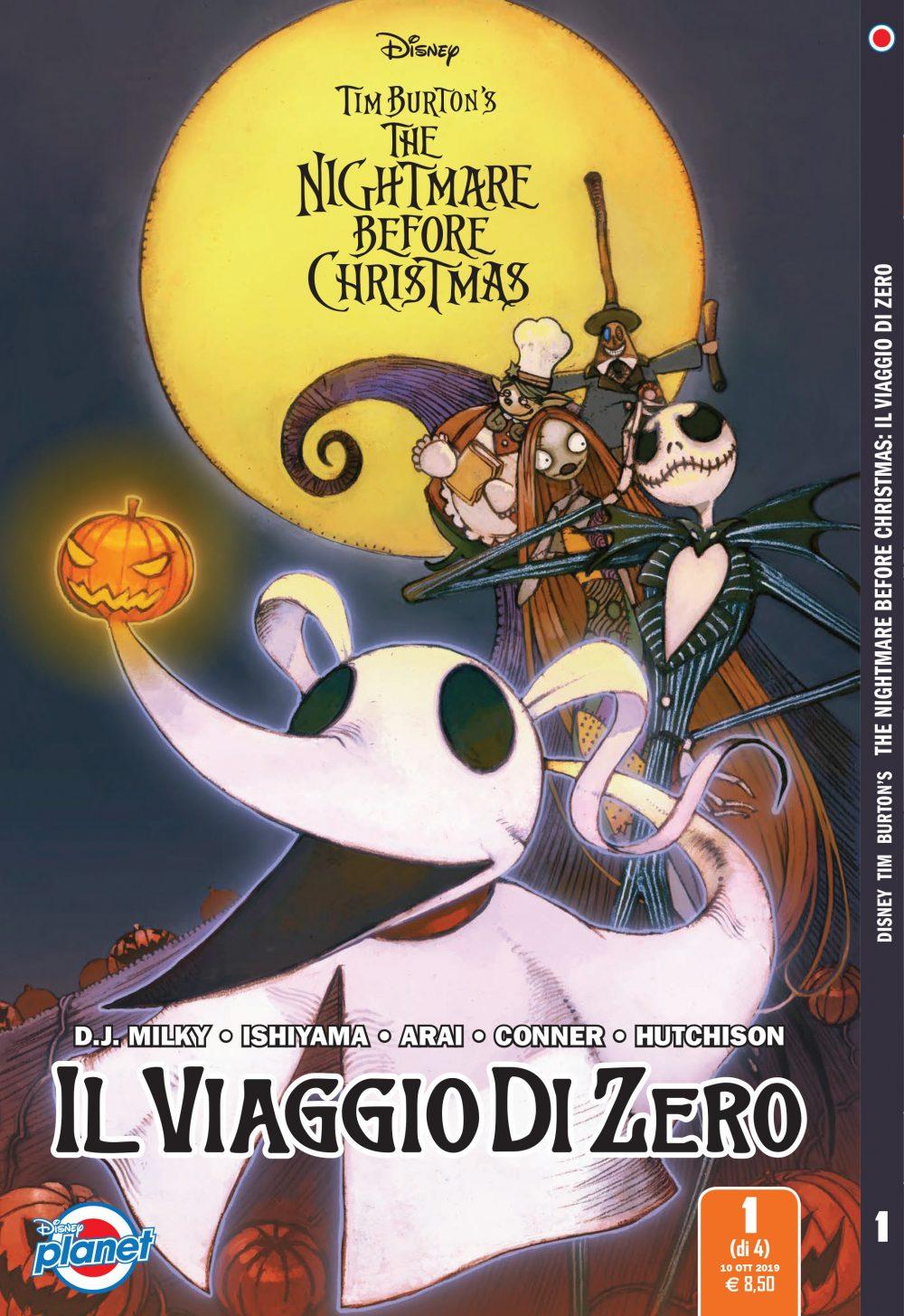 Tim Burton's The Nightmare Before Christmas: Il viaggio di Zero, copertina di Kei Ishiyama
