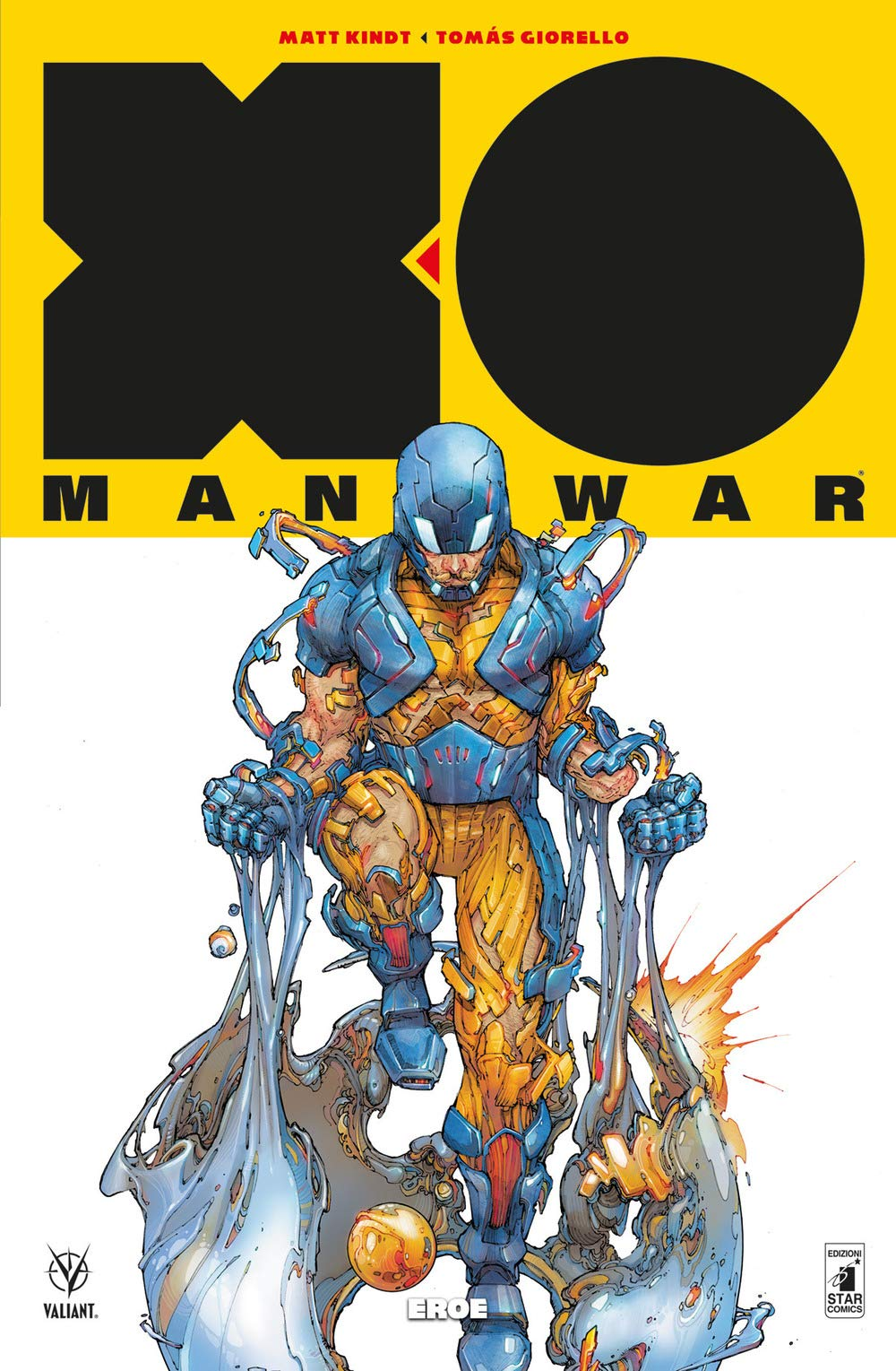 X-O Manowar vol. 7: Eroe, copertina di Kenneth Rocafort