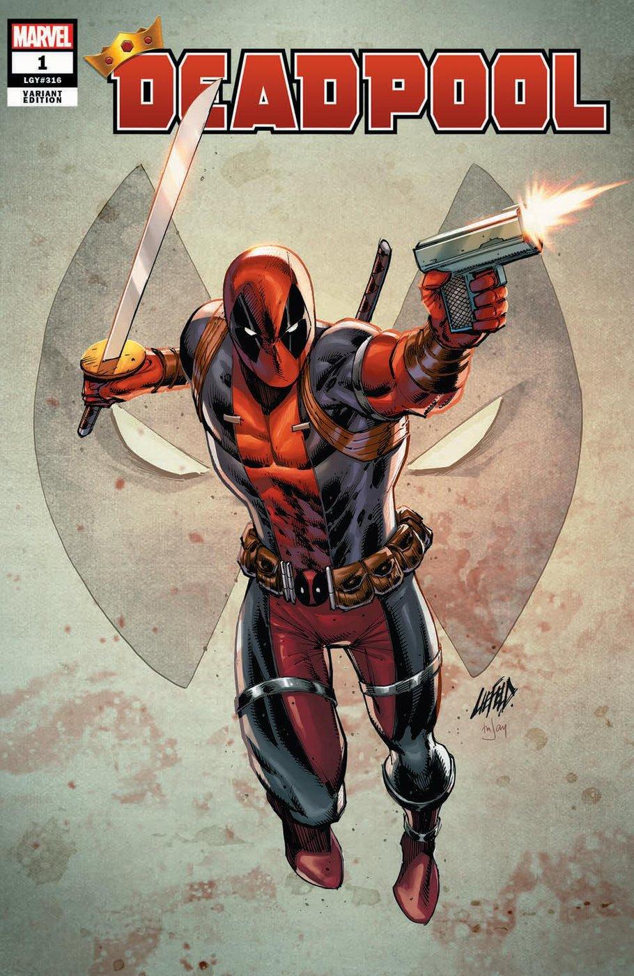 Deadpool #1, variant cover di Rob Liefeld