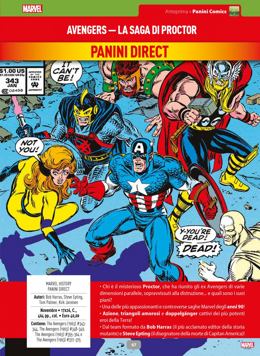 Avengers: la saga di Proctor su Anteprima