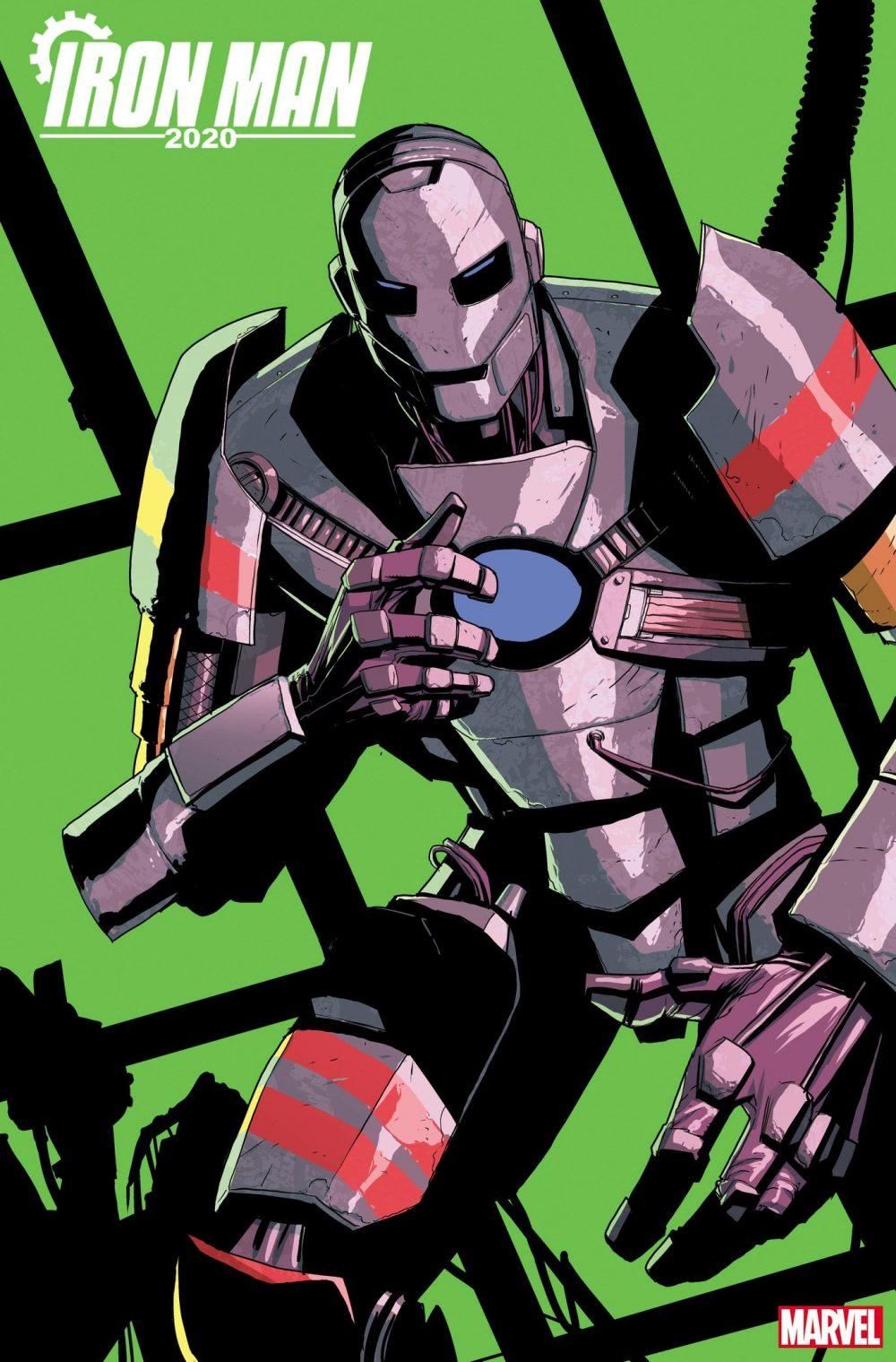 Iron Man 2020 #2, copertina di Pete Woods