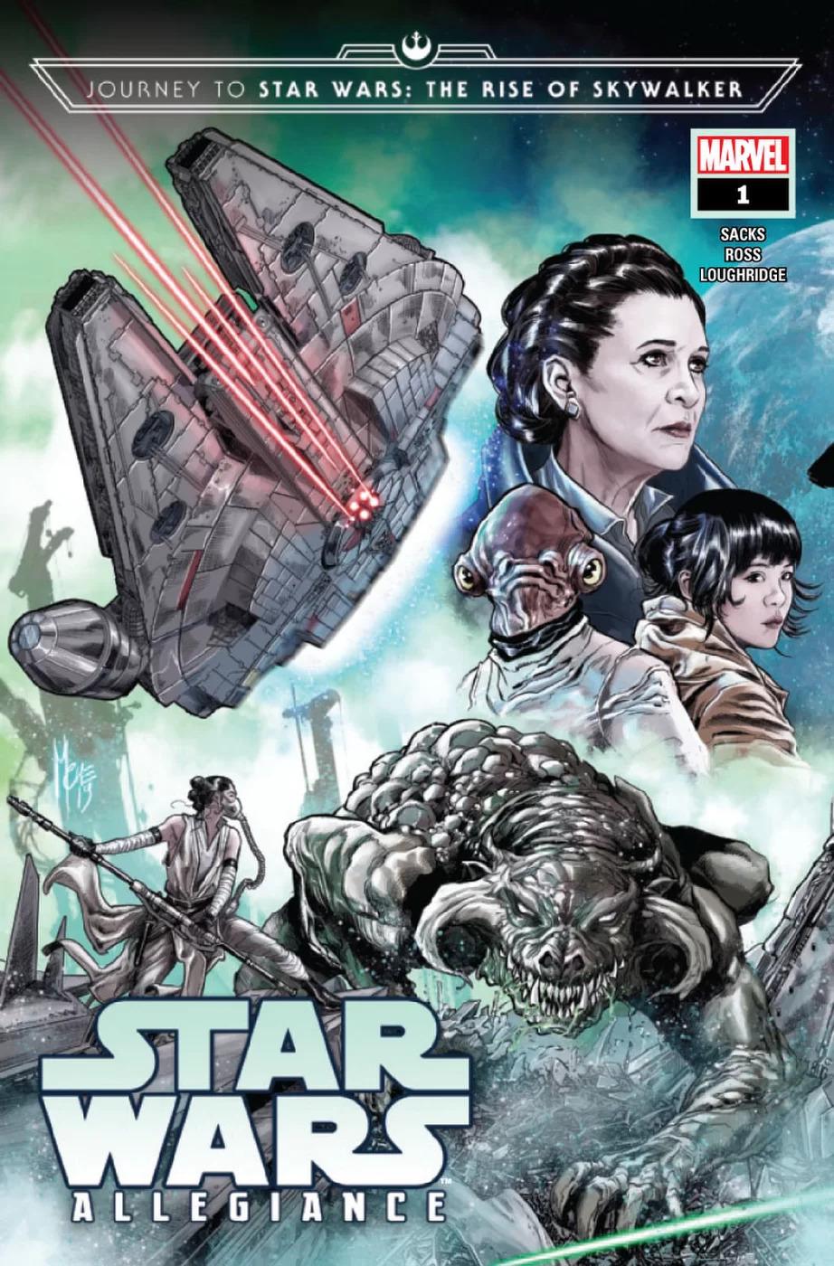 Journey To Star Wars: The Rise of Skywalker - Allegiance #1, copertina di Marco Checchetto