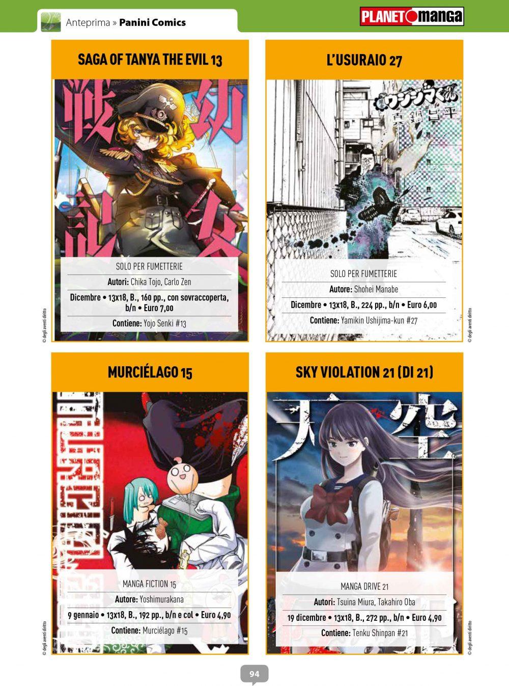Su Anteprima 338 è stata annunciata l'uscita dei volumetti conclusivi di Yoku-oni – Desideri diabolici, Sky Violation e Nana e Kaoru