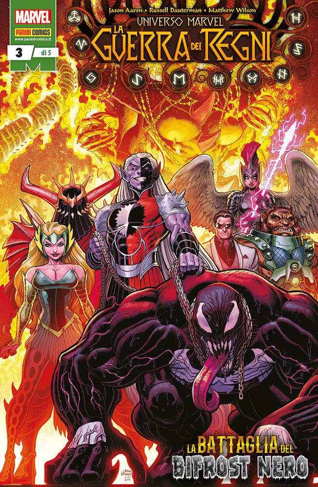 Universo Marvel: La Guerra dei Regni 3, copertina di Arthur Adams
