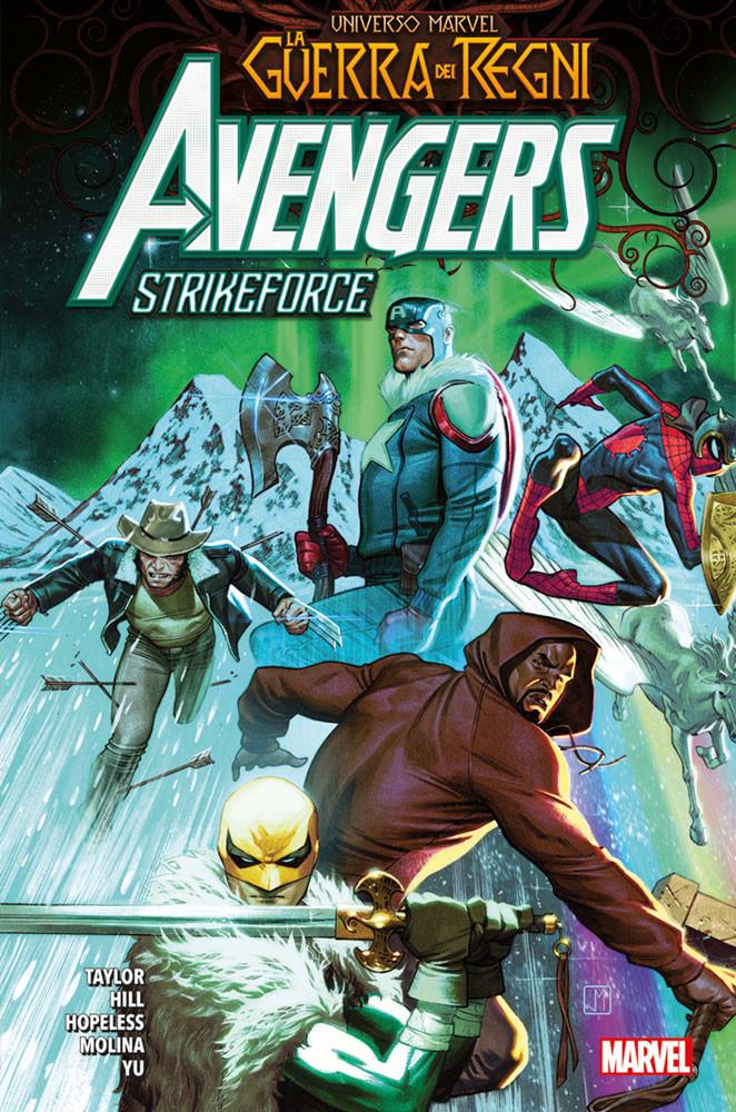 La Guerra dei Regni: Avengers Strikeforce, copertina di Jorge Molina