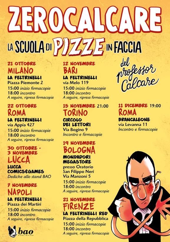 La scuola di pizze in faccia del professor Calcare, il booktour