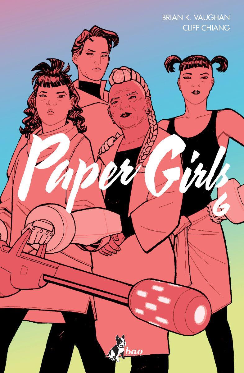 Paper Girls vol. 6, copertina di Cliff Chiang