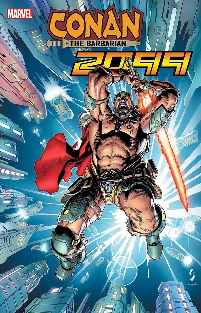 Conan 2099 #1, copertina di Geoff Shaw