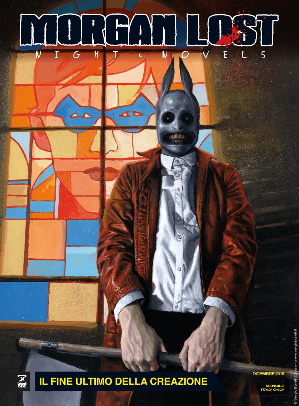 Morgan Lost - Night Novels 1: Il fine ultimo della creazione, copertina di Fabrizio De Tommaso
