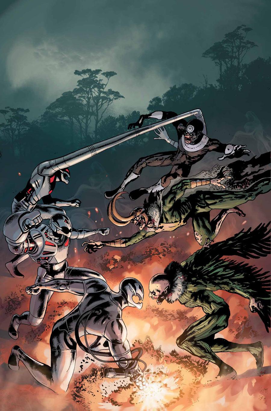 Age of Ultron vs. Marvel Zombies #3, copertina di Steve Pugh