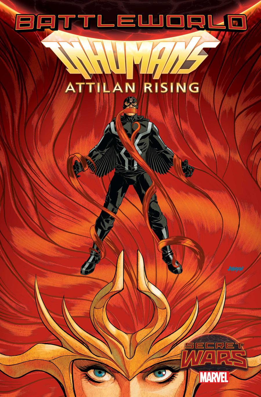Attilan Rising #3, copertina di Dave Johnson